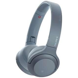 58b5991eab ビックカメラ.com | ソニー SONY ブルートゥースヘッドホン h.ear on 2 Mini Wireless ムーンリットブルー  WH-H800 LM [リモコン・マイク対応 /Bluetooth /ハイレゾ ...