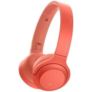 7dc2c723d2 ビックカメラ.com | ソニー SONY ブルートゥースヘッドホン h.ear on 2 Mini Wireless トワイライトレッド  WH-H800 RM [リモコン・マイク対応 /Bluetooth /ハイレゾ ...