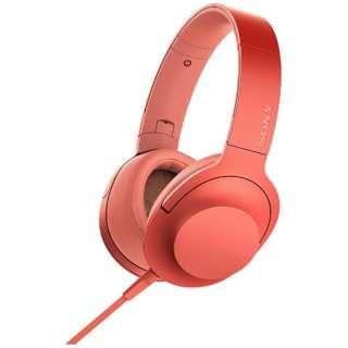 ヘッドホン h.ear on 2 トワイライトレッド MDR-H600A [リモコン・マイク対応 /φ3.5mm ミニプラグ /ハイレゾ対応]