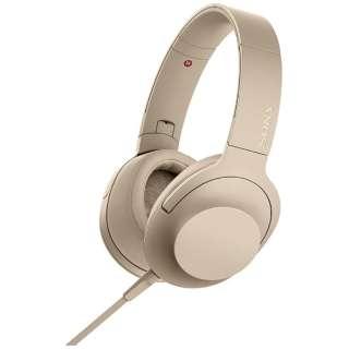 ヘッドホン h.ear on 2 ペールゴールド MDR-H600A [リモコン・マイク対応 /φ3.5mm ミニプラグ /ハイレゾ対応]