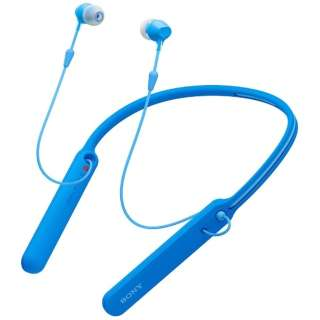 bluetooth イヤホン カナル型 ブルー WI-C400LZ [リモコン・マイク対応 /ワイヤレス(ネックバンド) /Bluetooth]