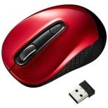 マウス レッド MA-WBL41R [BlueLED /無線(ワイヤレス) /3ボタン /USB]