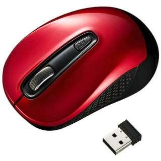 MA-WBL41R マウス レッド [BlueLED /3ボタン /USB /無線(ワイヤレス)]
