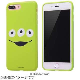 iPhone 7 Plus用 TPUソフトケース クローズアップ ディズニー リトルグリーンメン IN-DP7PH/AL