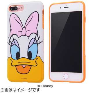 iPhone 7 Plus用 TPUソフトケース クローズアップ ディズニー デイジーダック IN-DP7PH/DS