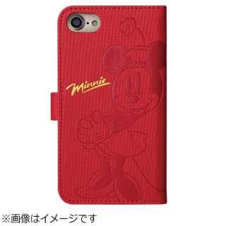 iPhone 8 手帳型 ディズニー 箔押しエンボスケース ミニーマウス TOEI387