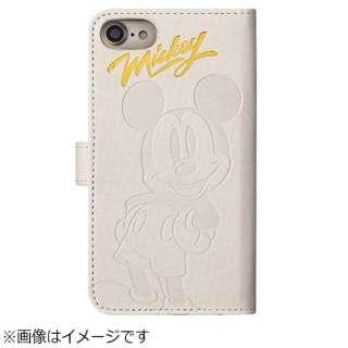 iPhone 8 手帳型 ディズニー 箔押しエンボスケース ミッキーマウス TOEI386