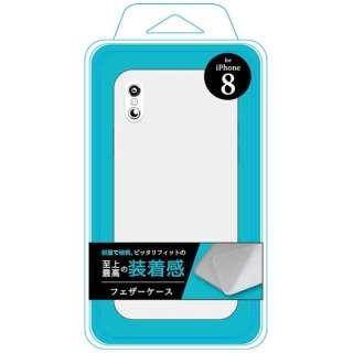 iPhone X用 フェザーケース ホワイト Ji8-03WH
