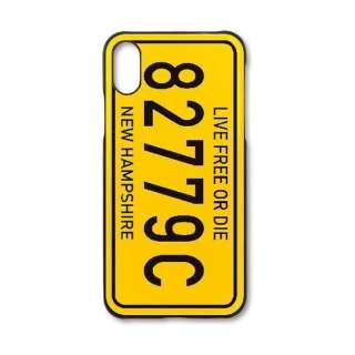 iPhone X用 Mモデリングケース ナンバープレート MMC08