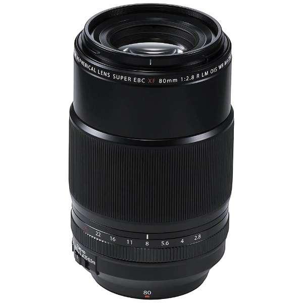 カメラレンズ XF80mmF2.8 R LM OIS WR Macro FUJINON(フジノン) ブラック [FUJIFILM X /単焦点レンズ]