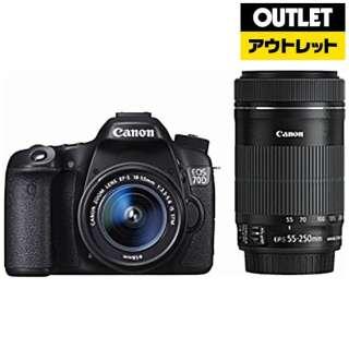 【アウトレット品】 EOS 70D デジタル一眼レフカメラ [ズームレンズ+ズームレンズ] 【生産完了品】