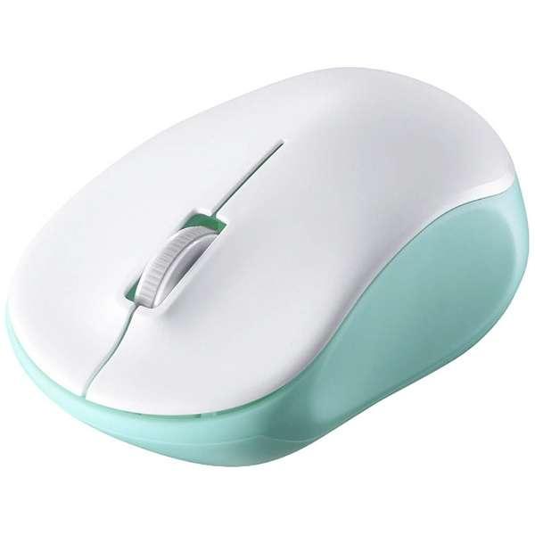 BSMRW118GR マウス BSMRW118シリーズ グリーン [IR LED /3ボタン /USB /無線(ワイヤレス)]