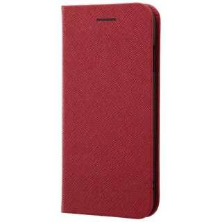 iPhone 8用 手帳型ケース マグネットタイプ レッド RT-P14SLC3/JR