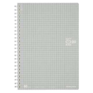 [ノート] ソフトリングノート (ドット入り罫線) (A5・B罫・80枚)  スSV338S5C 銀
