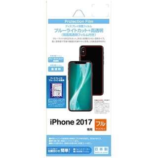 iPhone X用 ブルーライトカットフィルムセット 高光沢 BKS05IPXF