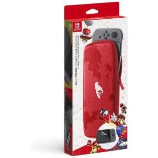 【純正】Nintendo Switchキャリングケース スーパーマリオ オデッセイエディション(画面保護シート付き) HAC-A-PSSAF[Switch]