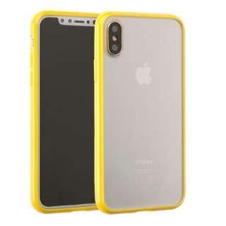iPhone X用 サイドカラードクリアハイブリッドケース イエロー IP8サイドカラードクリアHBYE