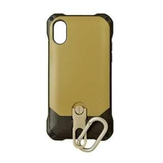 iPhone X用 スタンド機能付きカラビナケース ベージュ 3415IP8A