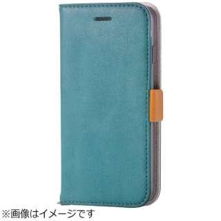 iPhone 8 手帳型  ソフトレザーカバー 磁石付 グリーン PM-A17MPLFYGNL