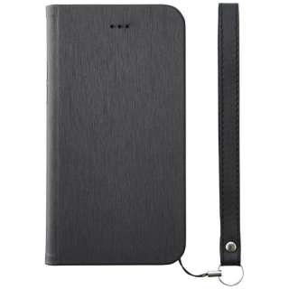 iPhone 8 手帳型  FlipNote Slim フリップノートケース ヘアライン ブラック TRIP174FNSHBK