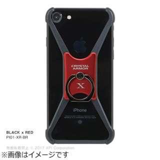 iPhone 8 CRYSTAL ARMOR X Ring ブラック/レッド PI01XRBR