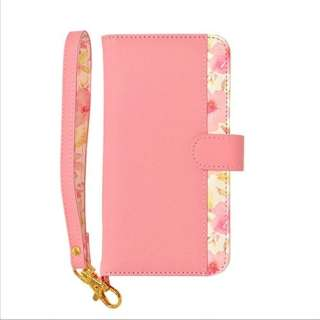 iPhone 8 花柄手帳型ケース ピンク 3598IP7SA