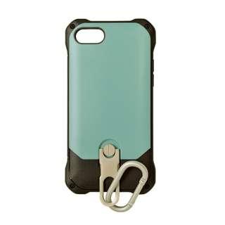 iPhone 8 スタンド機能付きカラビナケース ブルー 3479IP7SA