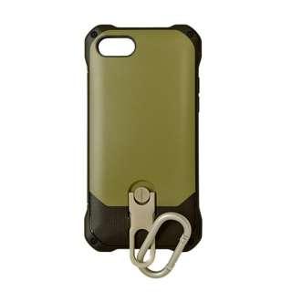iPhone 8 スタンド機能付きカラビナケース カーキ 3477IP7SA