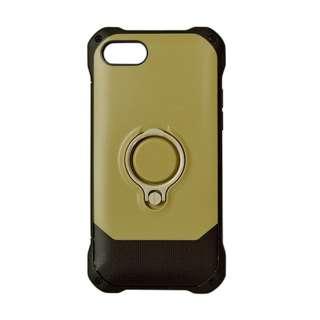iPhone 8 リングスタンド付きケース ベージュ 3474IP7SA