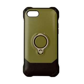 iPhone 8 リングスタンド付きケース カーキ 3473IP7SA