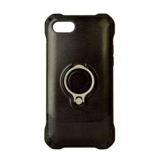 iPhone 8 リングスタンド付きケース ブラック 3472IP7SA