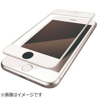 iPhone SE(第2世代)4.7インチ / iPhone 8 フルカバーフィルム 衝撃吸収 防指紋 高光沢 ホワイト PM-A17MFLPGRWH