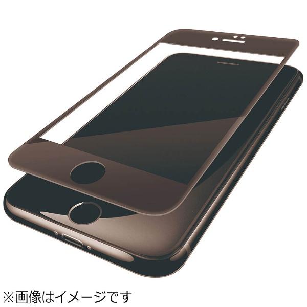 エレコム iPhone8/フィルム フルカバー ブルーライトカット 防指紋 光沢 ブラック PM-A17MFLBLGRBK 1枚