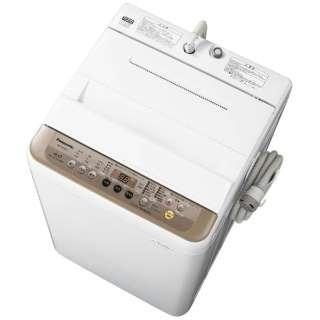 NA-F60PB11-T 全自動洗濯機 ブラウン [洗濯6.0kg /乾燥機能無 /上開き]