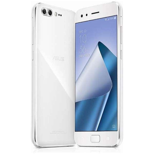 ZenFone 4 Pro(ZS551KL)ムーンライトホワイト「ZS551KL-WH128S6」 Snapdragon 835 5.5型・メモリ/ストレージ: 6GB/128GB nanoSIMx1 nanoSIM or micro SDx1 ドコモ/au/ソフトバンク/YmobileSIM対応 SIMフリースマートフォン