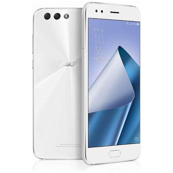 ZenFone 4(ZE554KL)ムーンライトホワイト「ZE554KL-WH64S6」  Snapdragon 660  5.5型・メモリ/ストレージ: 6GB/64GB nanoSIMx1 nanoSIM or micro SDx1 ドコモ/au/ソフトバンク/YmobileSIM対応 SIMフリースマートフォン