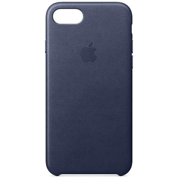 【純正】  iPhone 8用 レザーケース ミッドナイトブルー MQH82FE/A