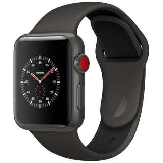Apple Watch Edition(GPS + Cellularモデル) 38mm グレイセラミックケースとグレイ/ブラックスポーツバンド MQM42J/A