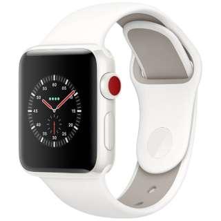 Apple Watch Edition(GPS + Cellularモデル) 38mm ホワイトセラミックケースとソフトホワイト/ペブルスポーツバンド MQM32J/A