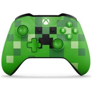 【純正】Xbox ワイヤレス コントローラー (Minecraft Creeper) WL3-00058[Xbox One]