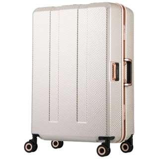 重量チェッカー搭載スーツケース 75L TRAVEL METER(トラベルメーター) ベージュカーボン 6703N-64-BECB [TSAロック搭載]