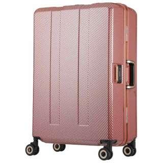 重量チェッカー搭載スーツケース (75L) 6703N-64-PKCB ピンクカーボン