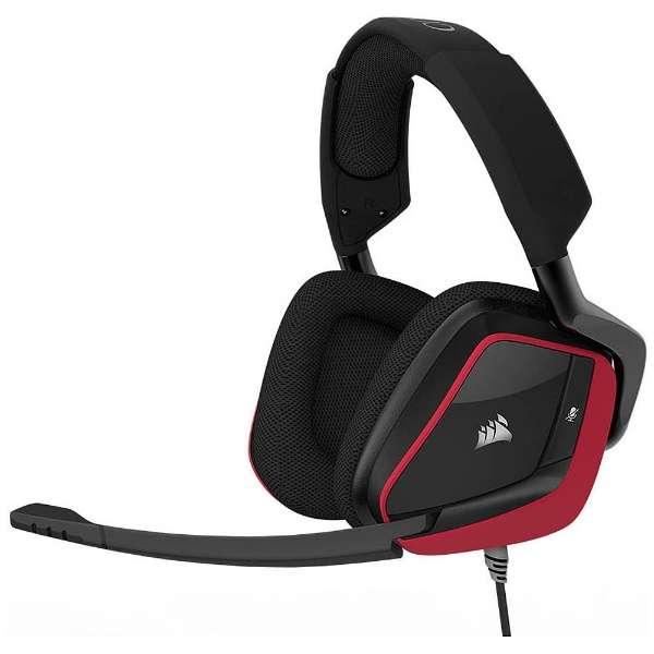CA-9011157-AP ヘッドセット レッド [φ3.5mmミニプラグ+USB /両耳 /ヘッドバンドタイプ]