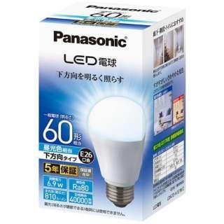 LDA7D-H/E/W/2 LED電球 ホワイト [E26 /昼光色 /1個 /60W相当 /一般電球形 /下方向タイプ]