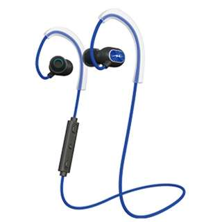 e58de4bcf4b bluetooth Earphone canal type blue HP-S100BT [remote-control microphone- adaptive/wireless (right and left cord)/Bluetooth]