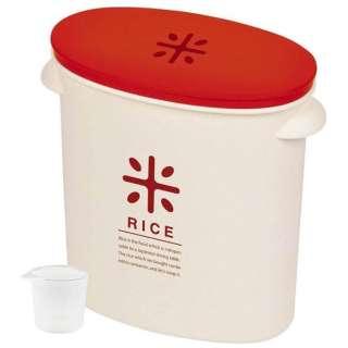 RICE お米袋のままストック(5kg用) HB-2167 レッド