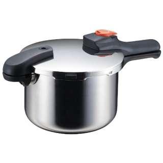 《IH対応》節約クック ステンレス製圧力切替式片手圧力鍋(4.5L) H-5436