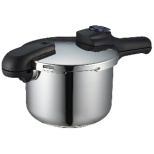 《IH対応》クイックエコ 3層底切り替え式圧力鍋(4.5L) H-5041