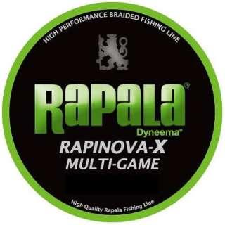 ライン ラピノヴァX マルチゲーム PE(150m・0.3号・ライムグリーン・7.2LB)