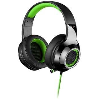 ゲーミングヘッドセット グリーン [USB /両耳 /ヘッドバンドタイプ]